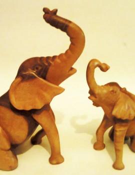 Afrikanische Holzskulptur Elefanten