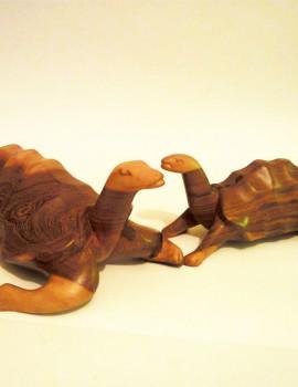 Afrikanische Holzskulptur Schildkröten