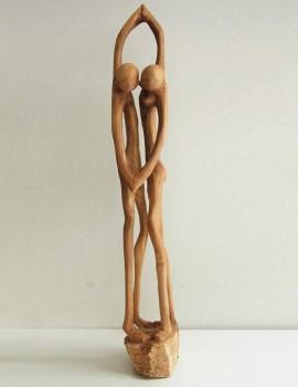 Afrikanische Holzskulptur tanzendes Paar