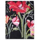 Webteppich rote Blume Handarbeit aus Kenia