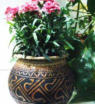 Kalebasse Blumenübertopf snvn