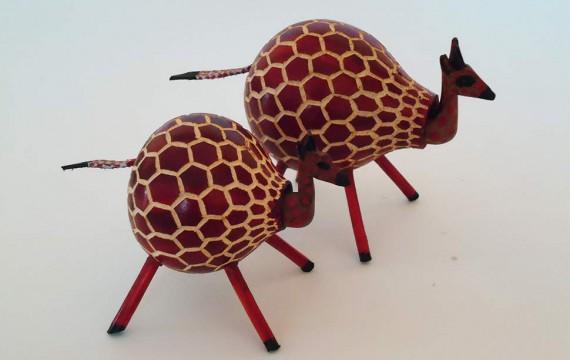 Kalebasse Wackelfigur Giraffe