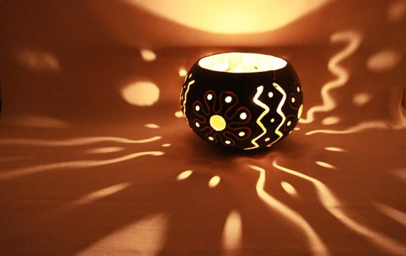 Kalebasse Windlicht Kerzenhalter Envy