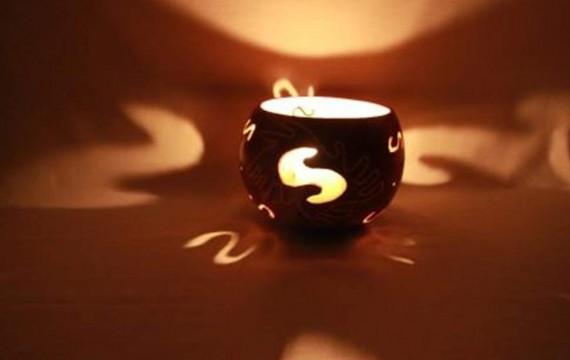 Kalebasse Windlicht Kerzenhalter Harmony