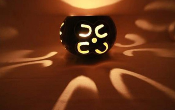 Kalebasse Windlicht Kerzenhalter Loyality