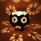 Kalebasse Windlicht Kerzenhalter Orange