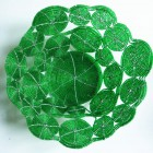 Perlenschale grün aus Glasperlen und Draht, Sicht von oben